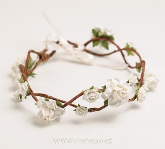 corona de flores romance