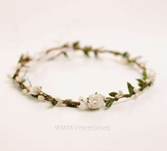 coronas de flores para comunión