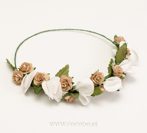coronita de flores cocono