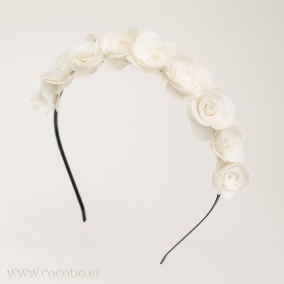 diadema florecitas de lino