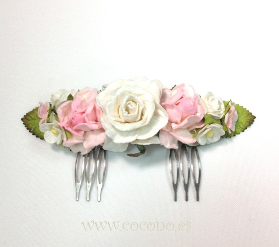 peineta rosa comunion