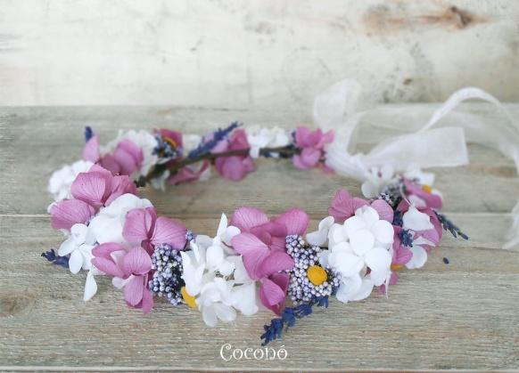 Corona de flores para comunion
