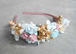 diadema de comunion en mint rosa oro3