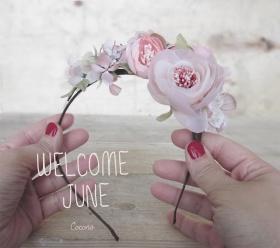 diadema de flores de seda jUNIO