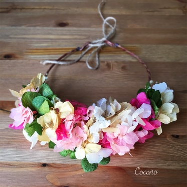 Fucsia Preserved Hydrangeas Flower Crown