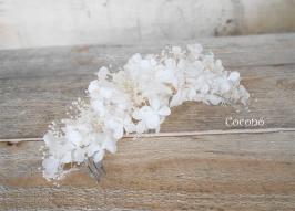 media corona de hortensias presevadas