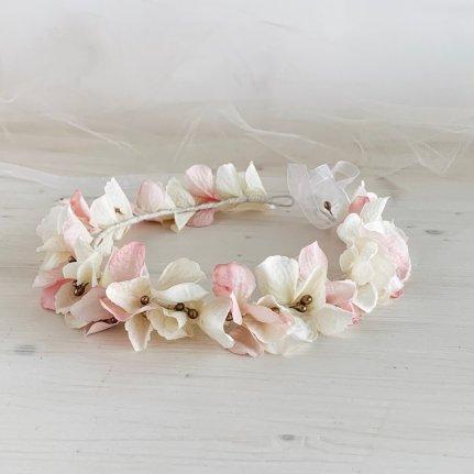 corona de flores para comuniones